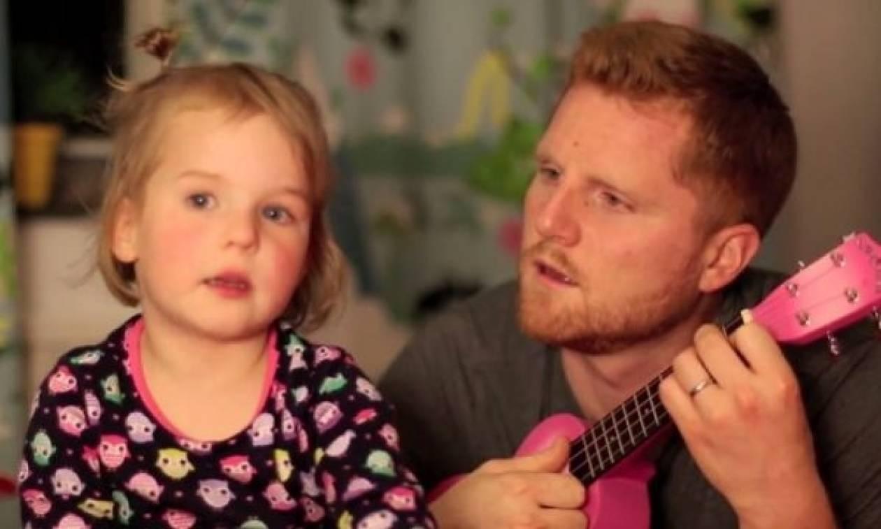 Το κοριτσάκι που τραγουδάει γιατί φοβάται τα πυροτεχνήματα! (βίντεο)