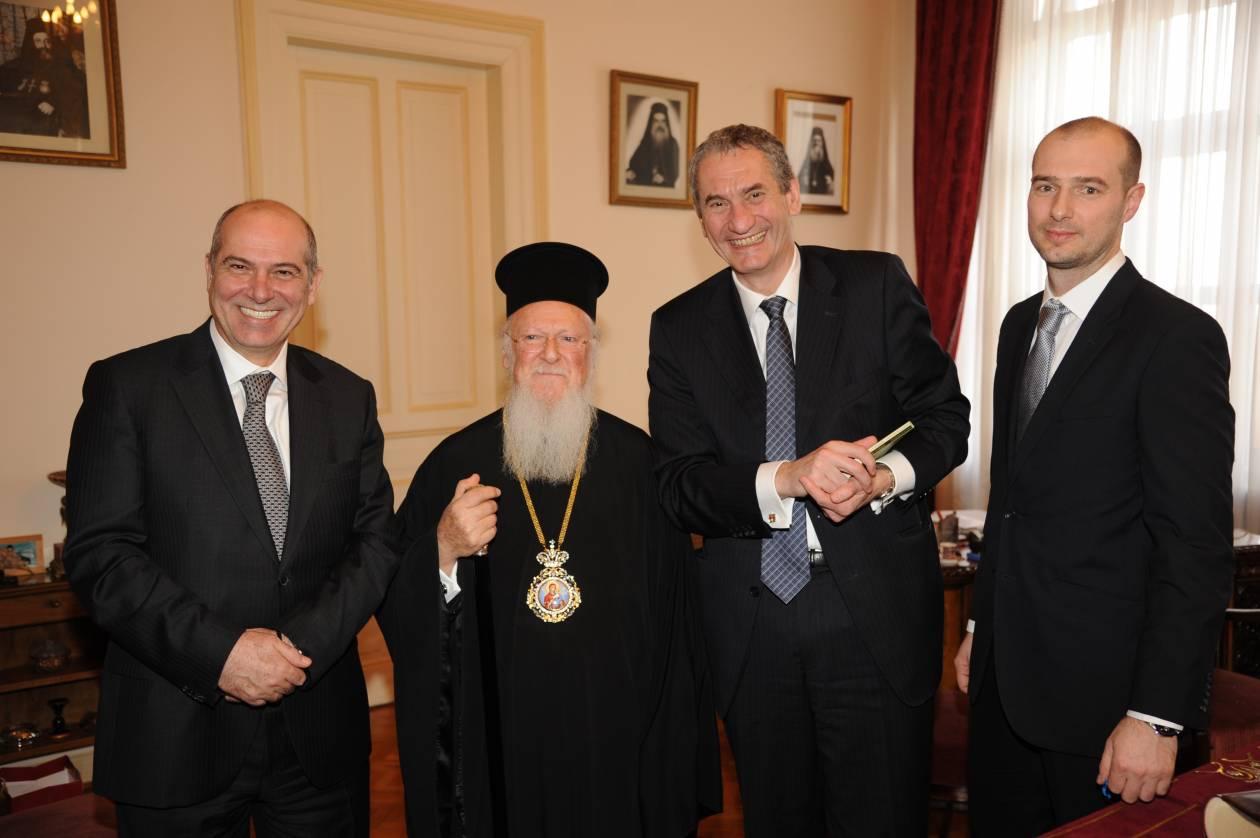 Επίσκεψη της διοίκησης του ΟΠΑΠ στο Οικουμενικό Πατριαρχείο
