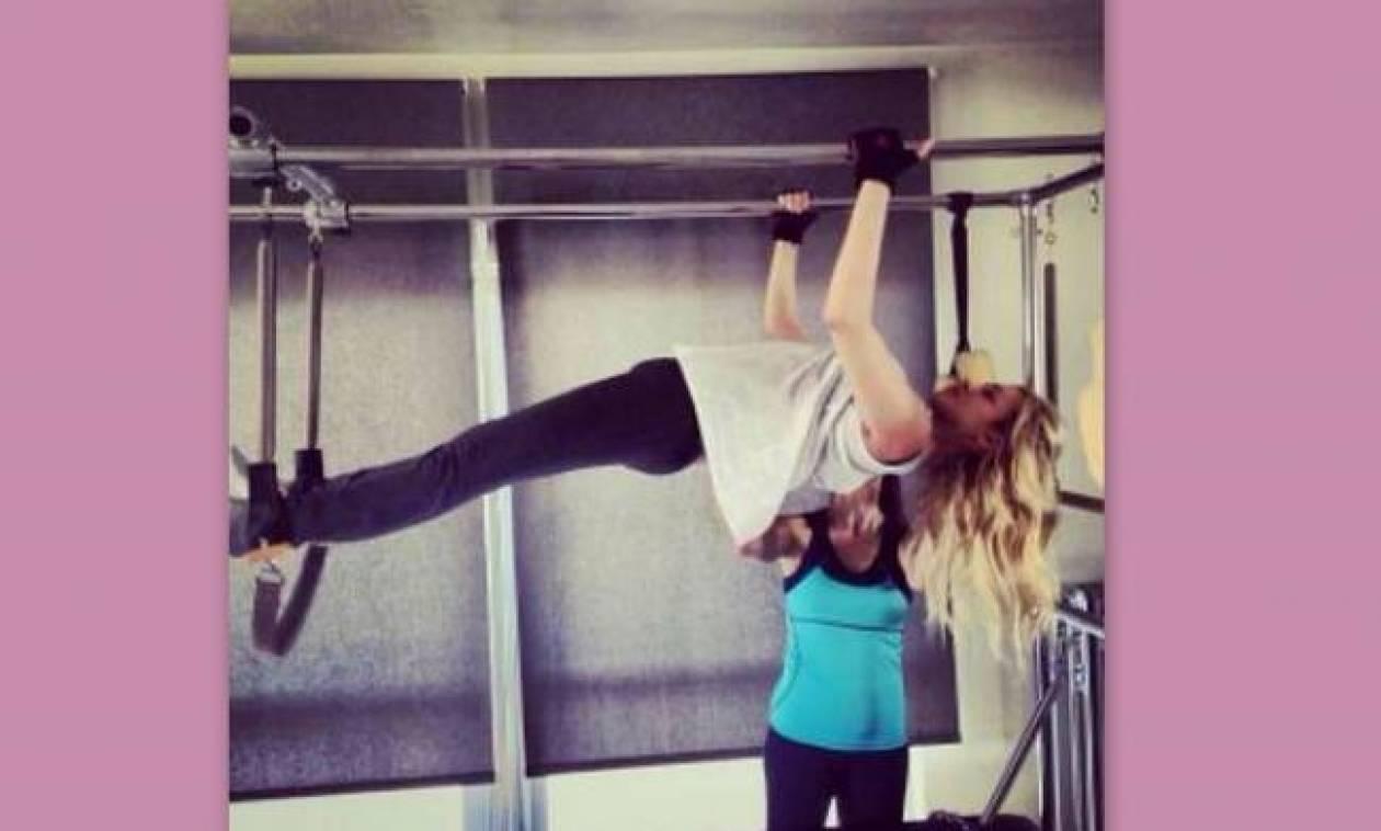 Κατερίνα Καινούργιου: «Λιώνει» στην γυμναστική!