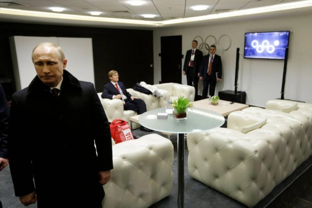 Ο Πούτιν δεν είδε το φιάσκο με τους Ολυμπιακούς δακτύλιους!