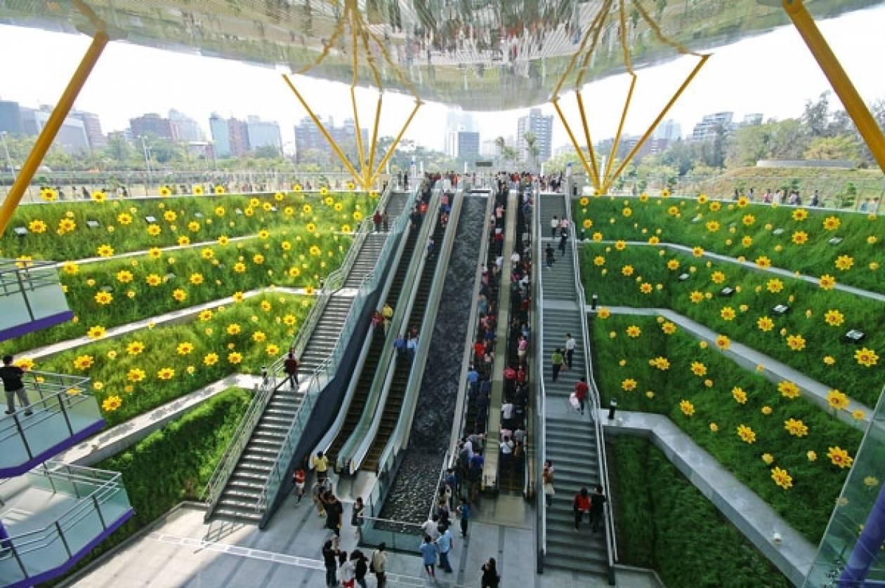 O σταθμός του Μετρό που ανθίζει στη Ταϊβάν!