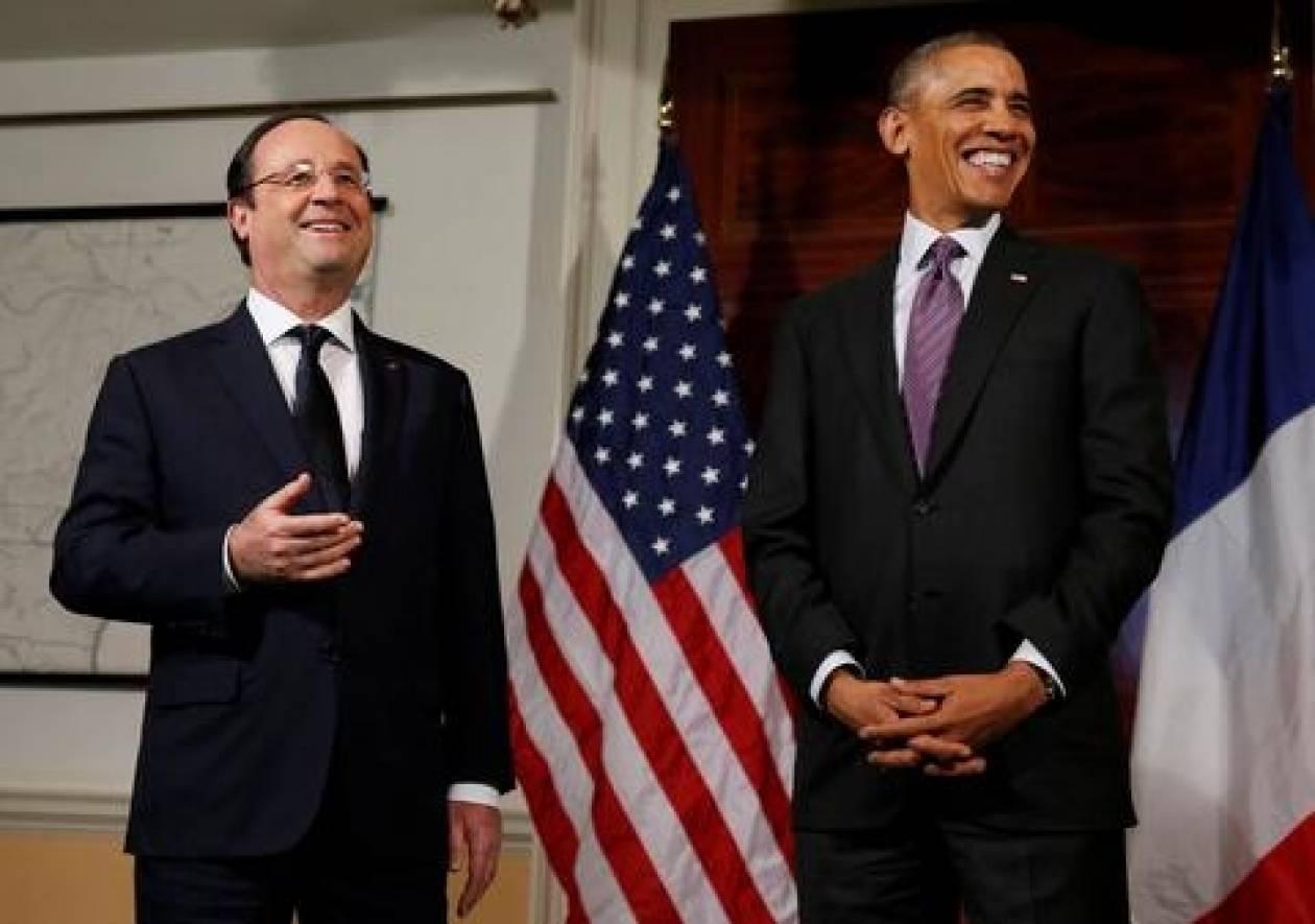 Ομπάμα - Ολάντ δεσμεύονται να αντιμετωπίσουν τις «μεγάλες προκλήσεις»