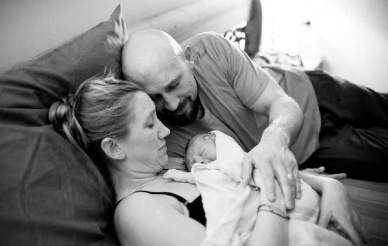 «Γέννησα το μωρό μου στις 42 εβδομάδες μέσα στο σπίτι που μεγάλωσα!»