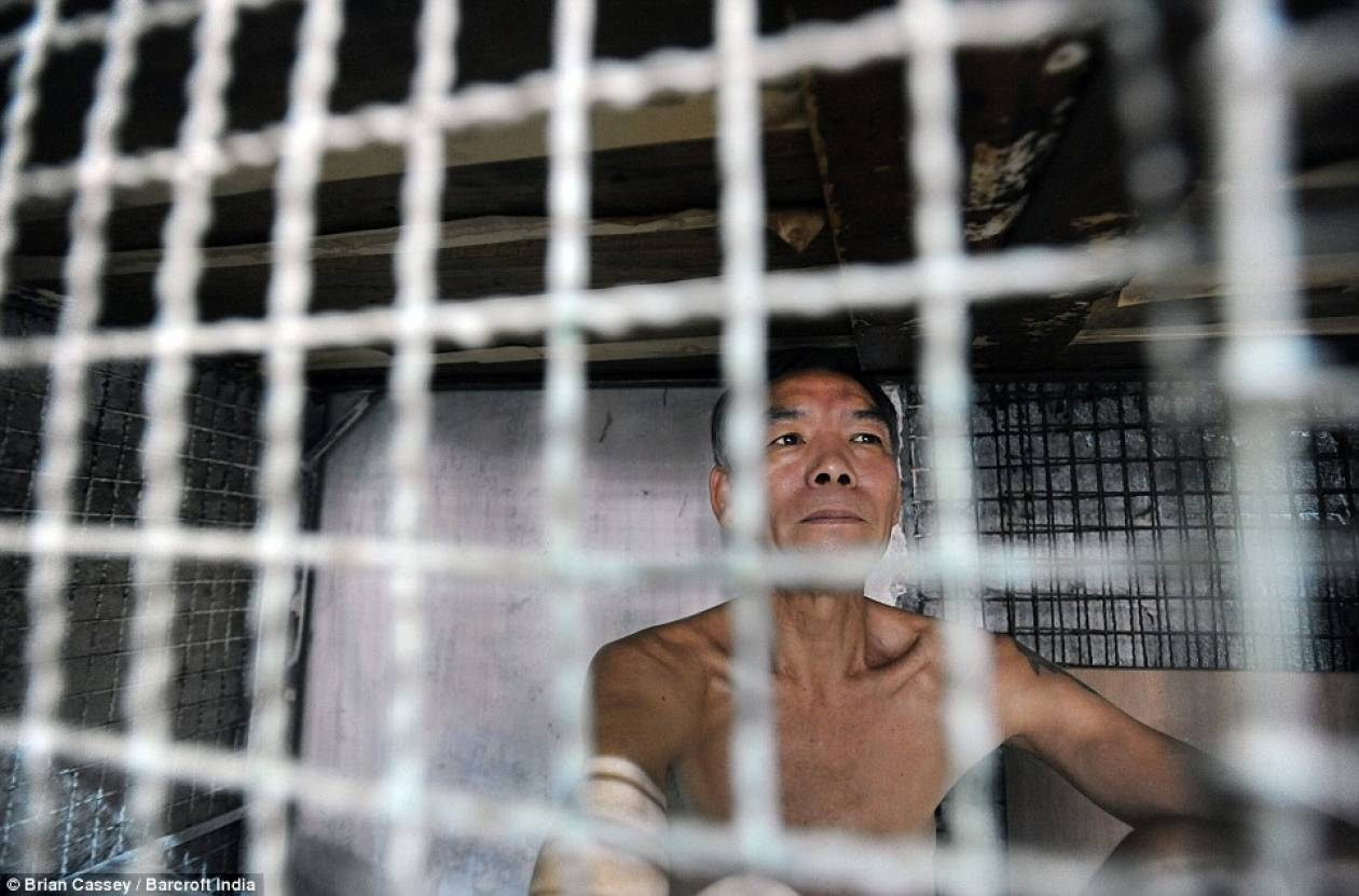 Συγκλονιστικές φωτογραφίες - Άνθρωποι ζουν μέσα σε κλουβιά σαν τα ζώα