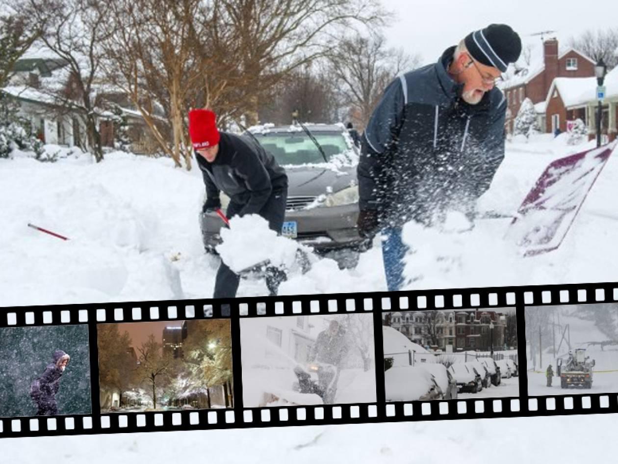 Αυξάνονται τα θύματα από την χιονοθύελλα που σαρώνει τις ΗΠΑ