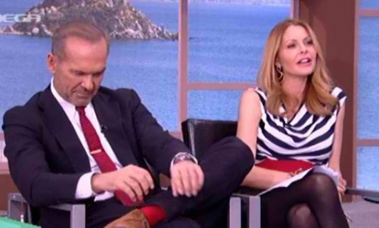 «Πάγωσε» ο Κωστόπουλος-Καλεσμένη του αποκάλυψε την ερωτική τους σχέση