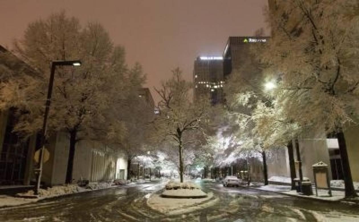 Εξασθένιση των χιονοπτώσεων στις ΗΠΑ