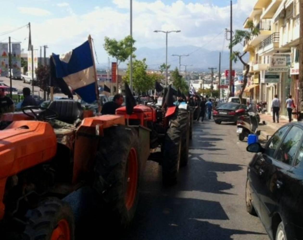 Θεσσαλονίκη: Μηχανοκίνητη πορεία με αγροτικά αυτοκίνητα στο κέντρο