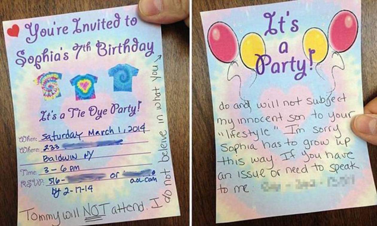 Ομοφυλόφιλοι γονείς έκαναν πάρτι για το παιδί τους και δεν πήγε κανείς