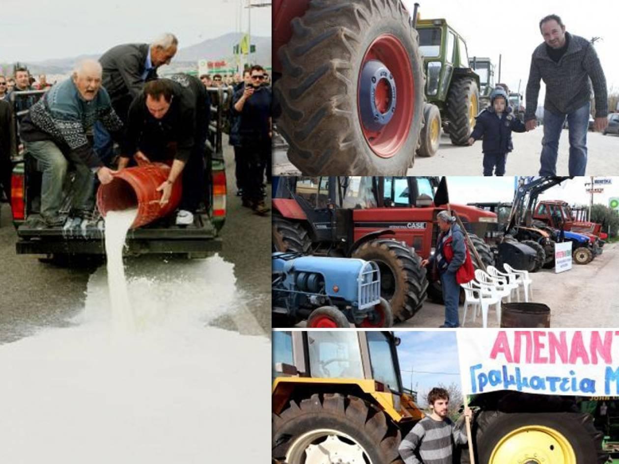 Οι εικόνες πίσω από τις αγροτικές κινητοποιήσεις