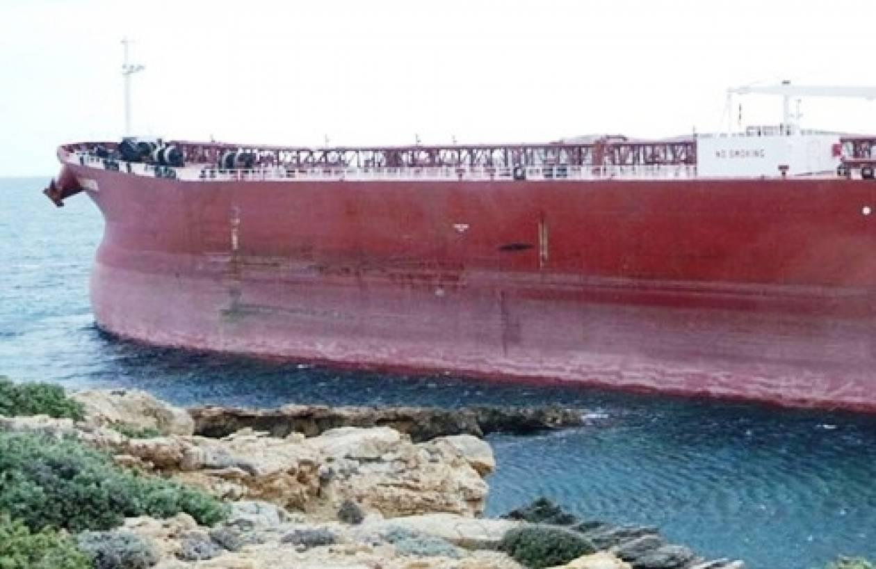 Δεξαμενόπλοιο προσάραξε στην Αμμόγλωσσα της Κω
