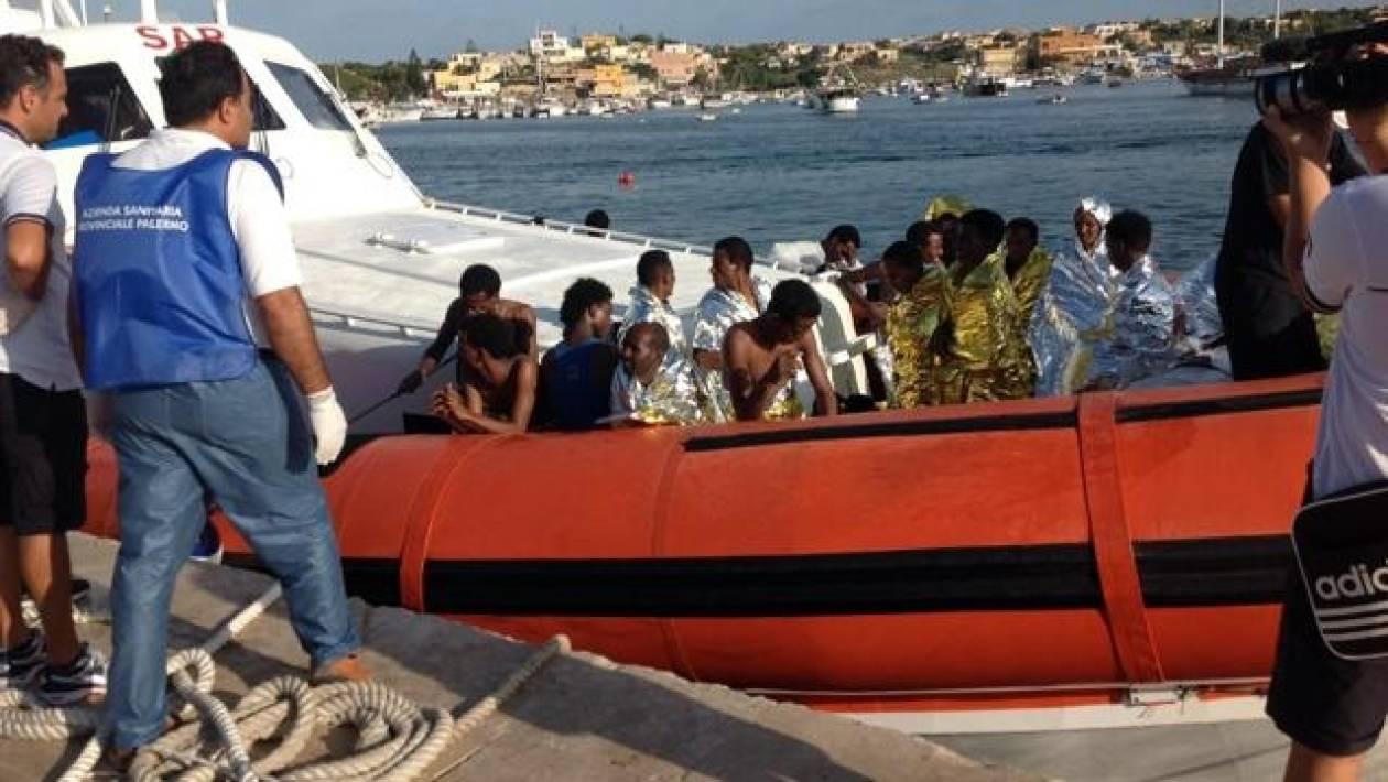 Eλληνικό πλοίο έσωσε μετανάστες στη Λαμπεντούζα - Δύο δεν τα κατάφεραν
