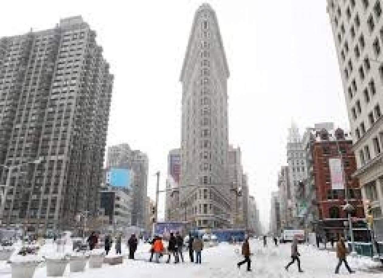 Προειδοποίηση για νέα χιονοθύελλα αύριο στη Νέα Υόρκη
