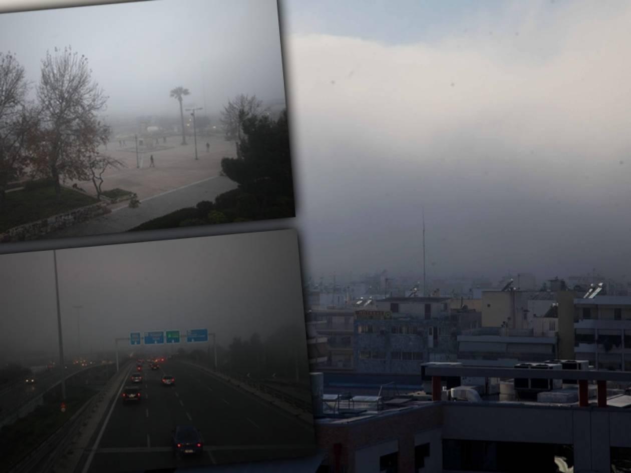 Ομίχλη - μυστήριο «τύλιξε» τα νότια προάστια της Αττικής (pics)