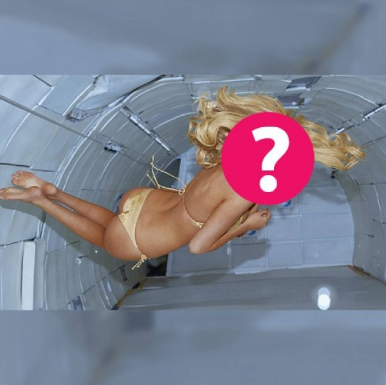 Ποια star πόζαρε μόνο με το μπικίνι της σε… μηδενική βαρύτητα;