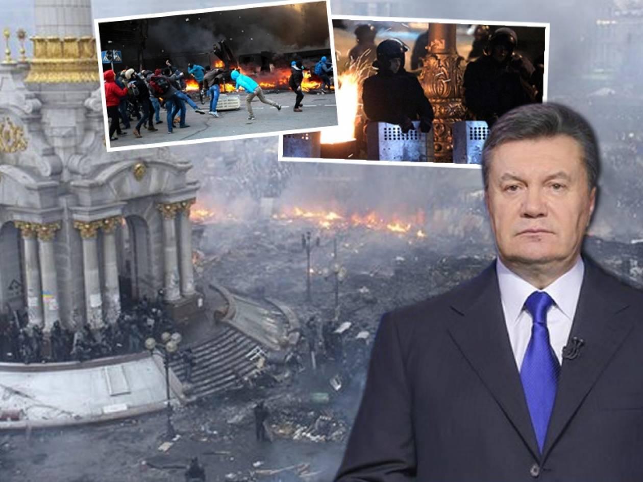 Εκεχειρία συμφώνησαν Γιανούκοβιτς και αντιπολίτευση στην Ουκρανία
