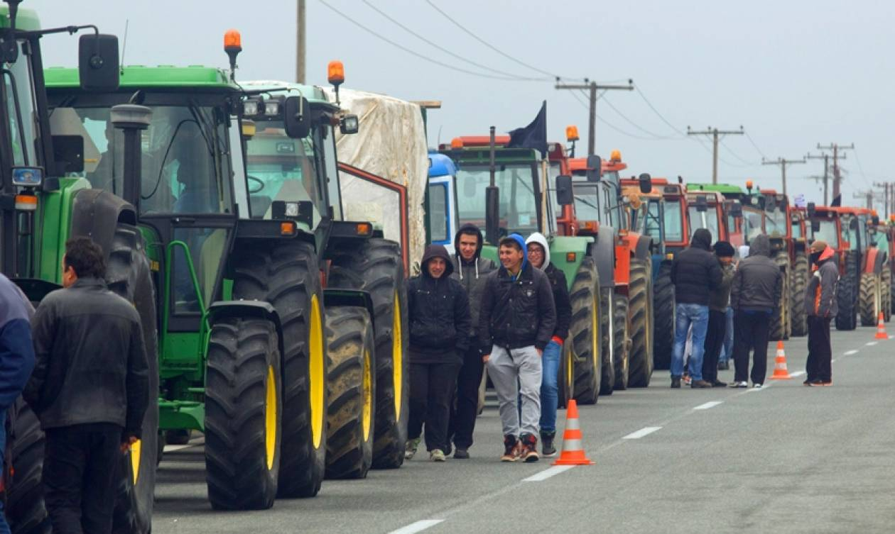 Πεζή διαμαρτυρία αγροτών στον Προμαχώνα