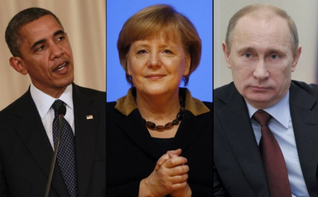 Ουκρανία: Άμεση πολιτική λύση θέλουν Μέρκελ-Ομπάμα-Πούτιν