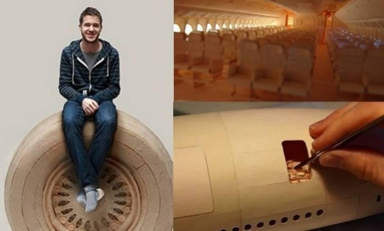 22χρονος αφιέρωσε 10.000 ώρες για να φτιάξει το μεγαλύτερο αεροπλάνο