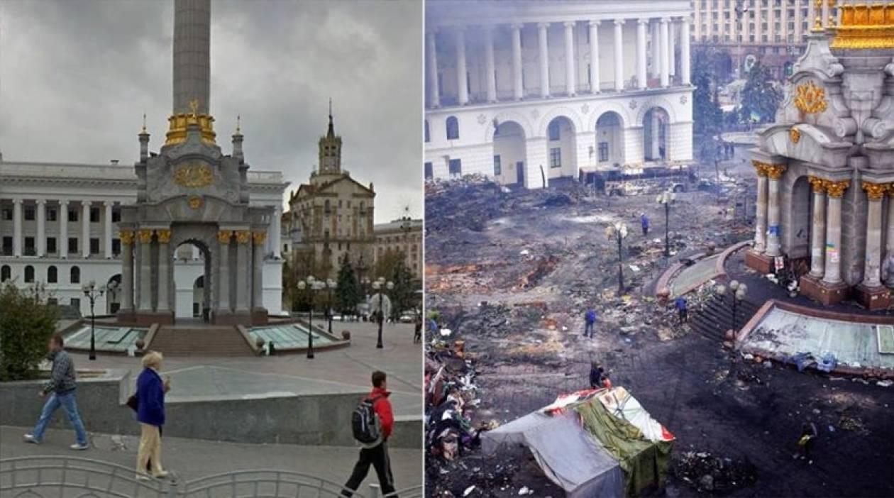 Ουκρανία: Το Κίεβο πριν και μετά σε 7 εικόνες