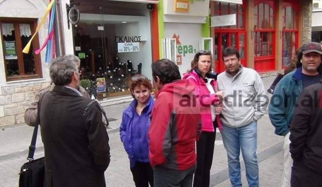 Βίντεο: Διαμαρτυρία εκπαιδευτικών στην Τρίπολη