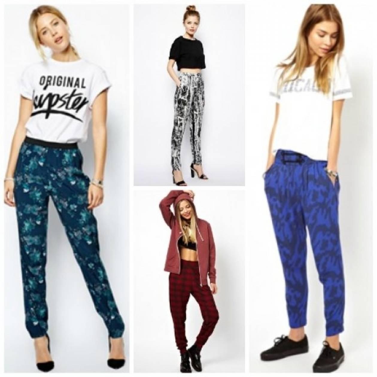 Βρίσκουμε στην αναγνώστριά μας stylish printed παντελόνια