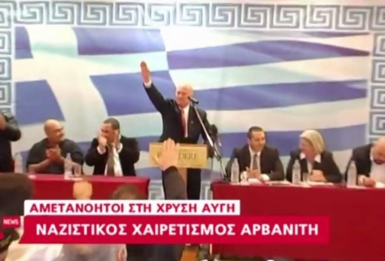 Βουλευτής της Χρυσής Αυγής χαιρέτησε ναζιστικά στην Κρήτη (Βίντεο)