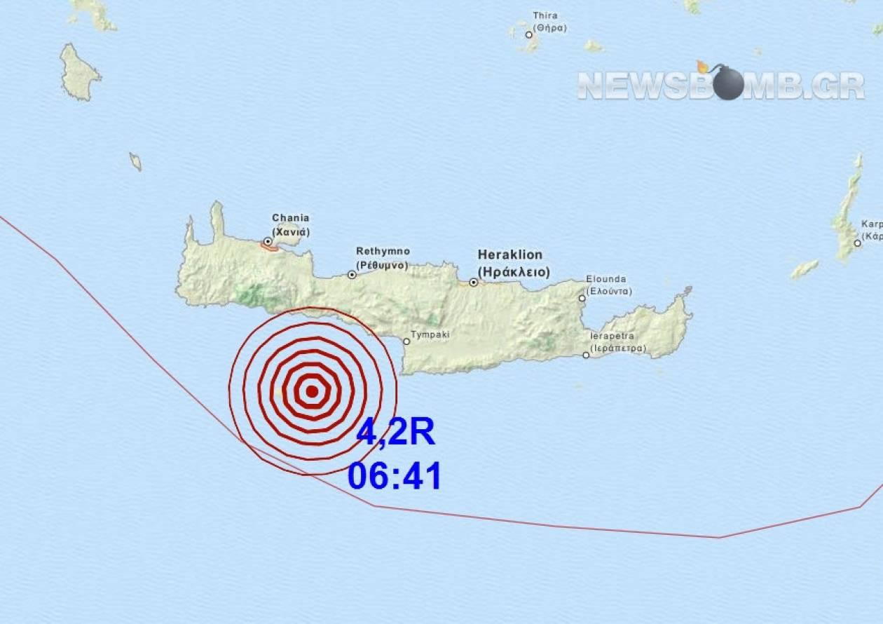 Σεισμός 4,2 Ρίχτερ στη Γαύδο