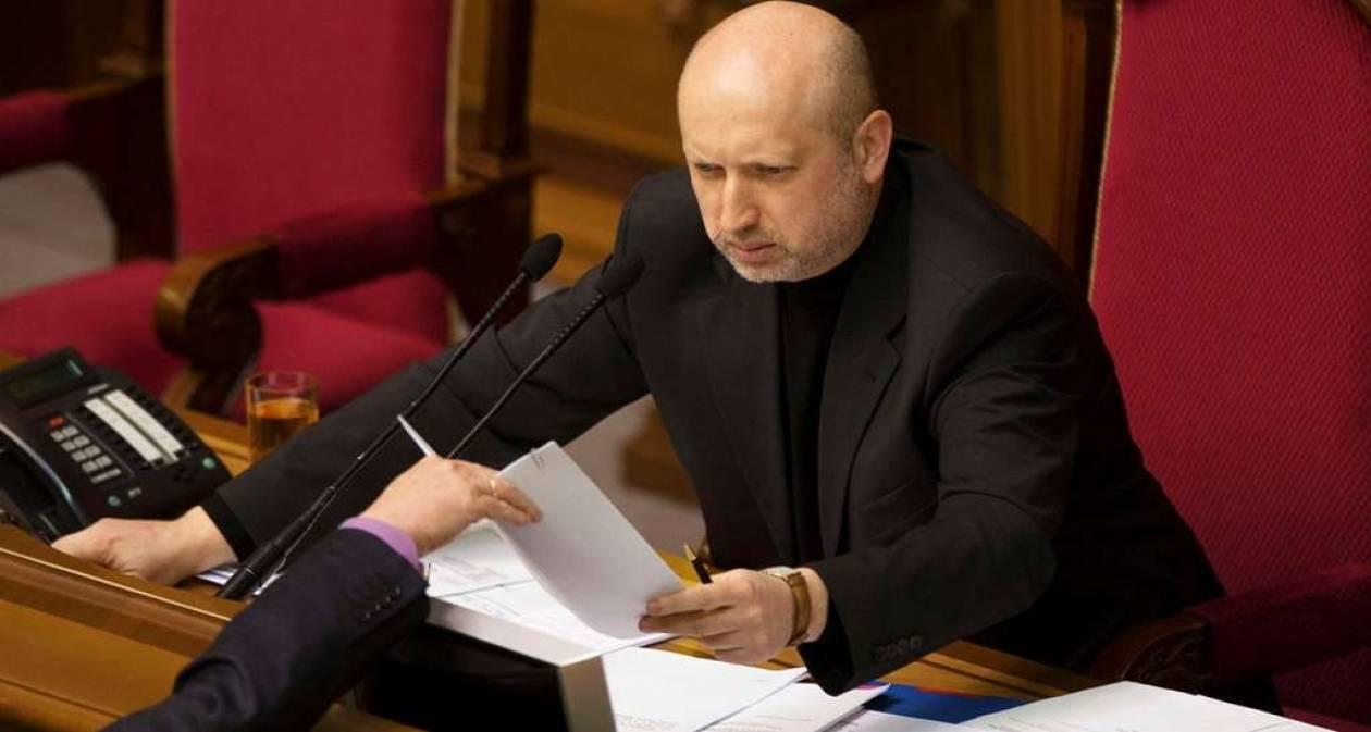 Η ΕΕ αναγνώρισε επίσημα τον Τουρτσίνοφ ως νόμιμο μεταβατικό πρόεδρο