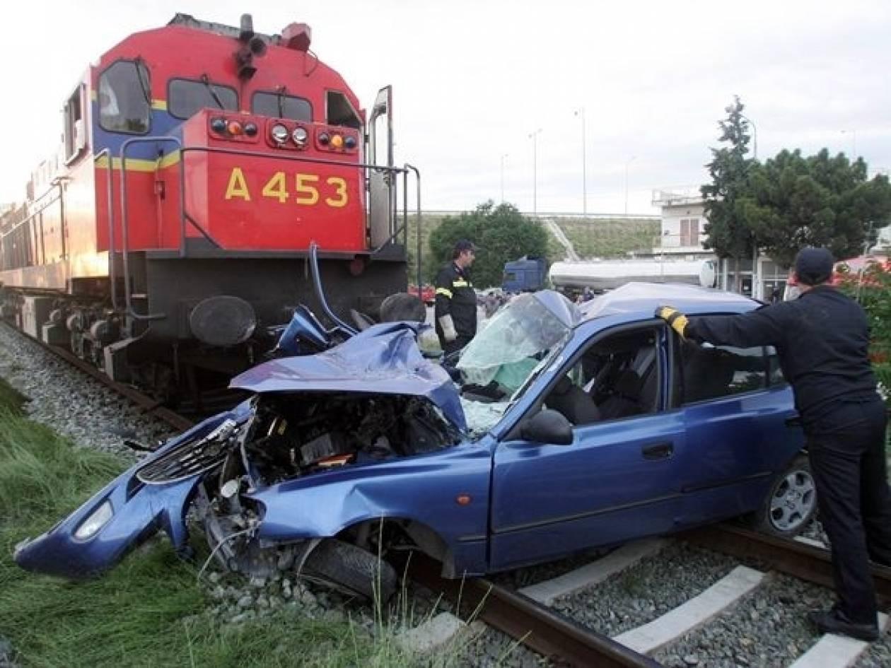 Βόλος: Αυτοκίνητο παραβίασε το φανάρι και παρασύρθηκε από τραίνο