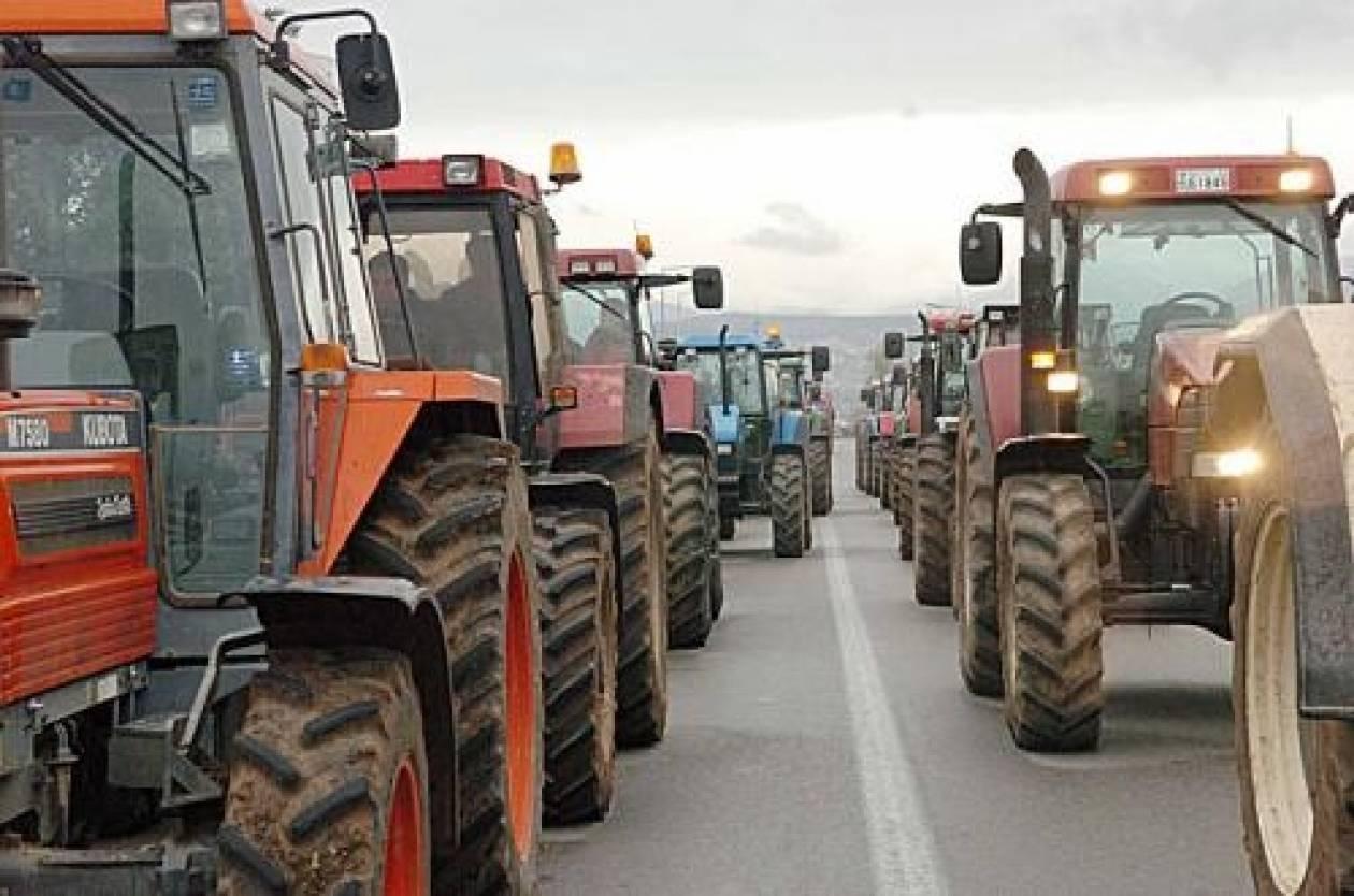 ΤΩΡΑ: Μπλόκο αστυνομικών σε διαμαρτυρόμενους αγρότες (photo)