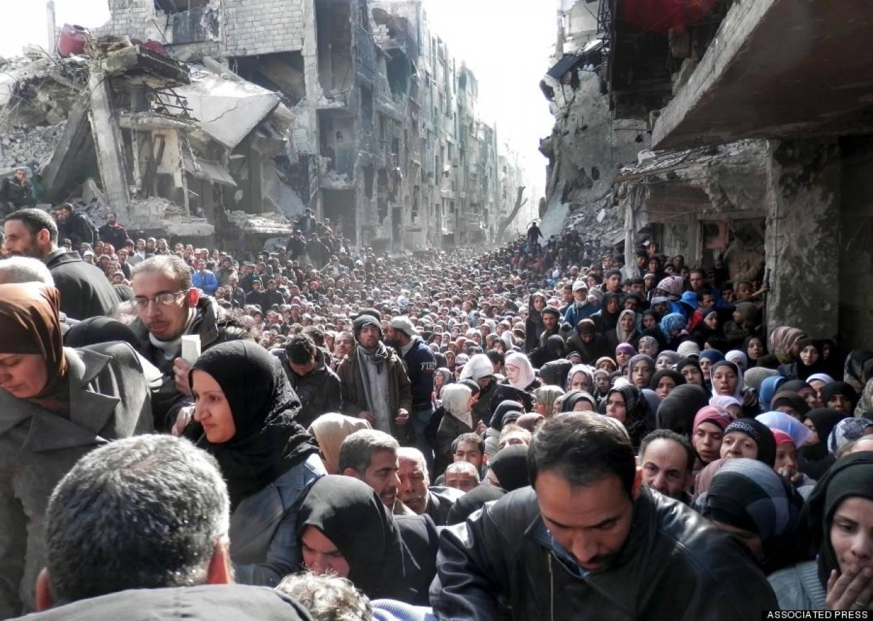 Η «θάλασσα» προσφύγων στη Συρία: Η εικόνα που σοκάρει