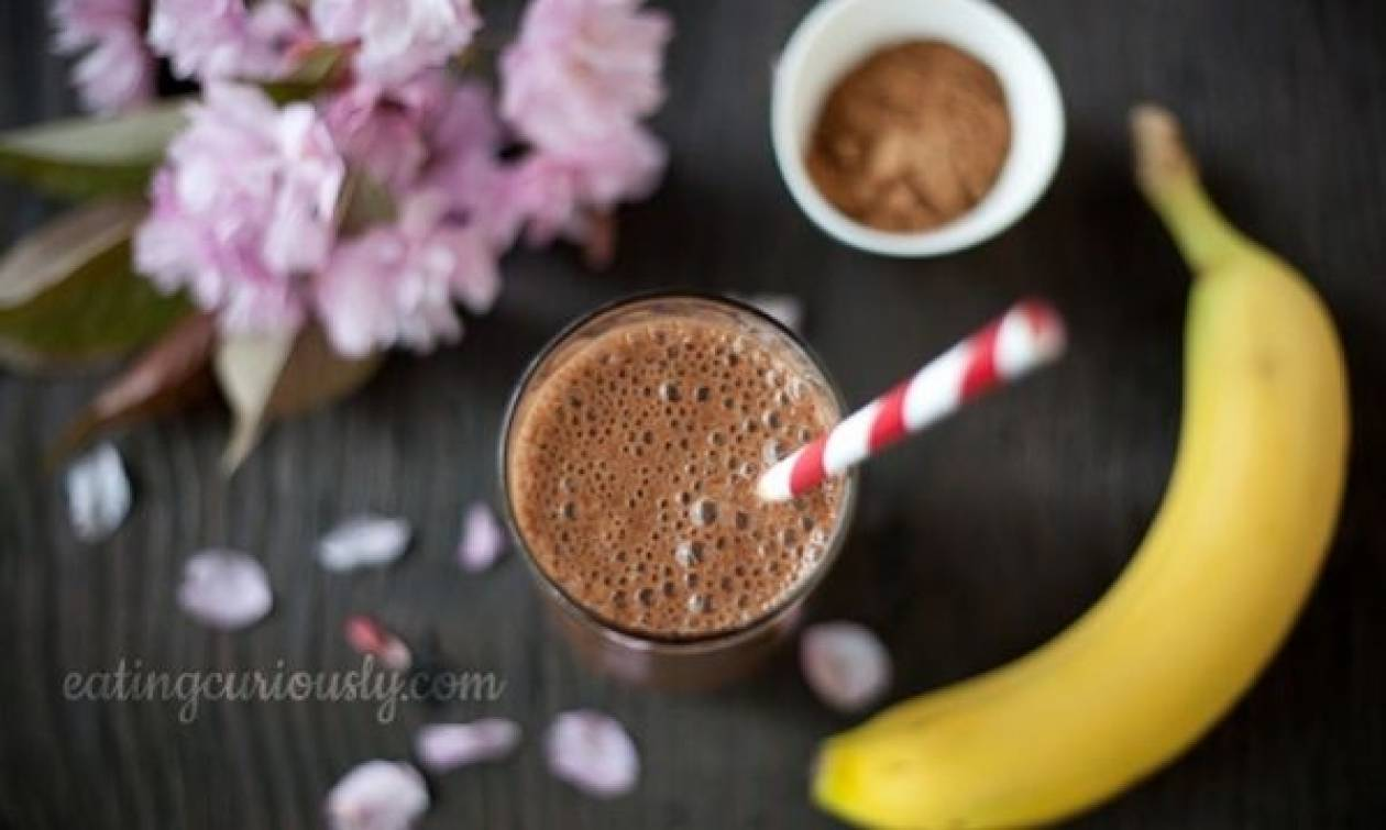 Συνταγή για το πιο τέλειο milkshake σοκολάτας-μπανάνας