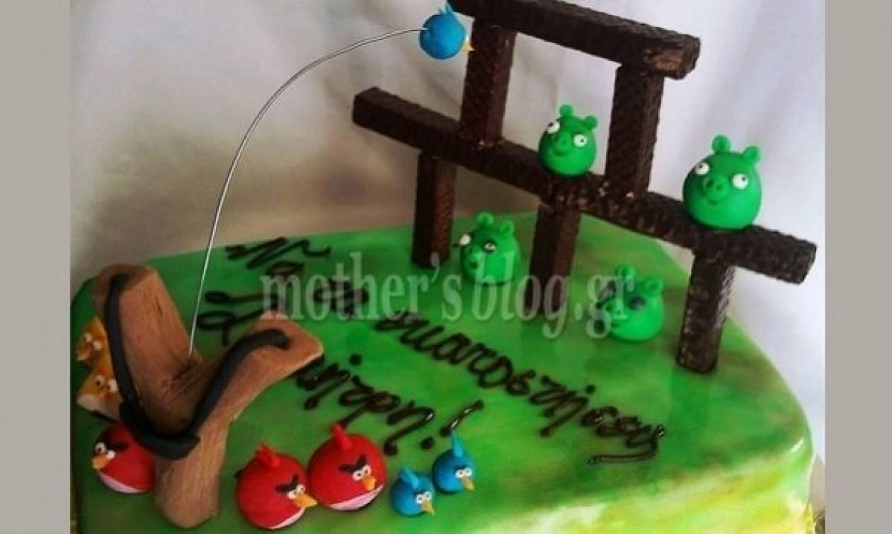 My cakes - My Hobby: Φτιάχνουμε τούρτα Angry Birds