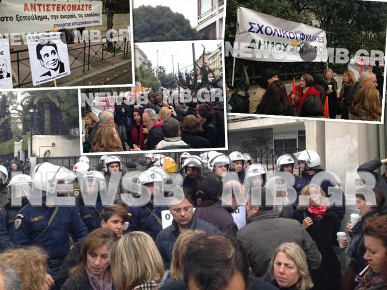 Επεισόδια και συλλήψεις έξω από το υπουργείο Διοικητικής Μεταρρύθμισης