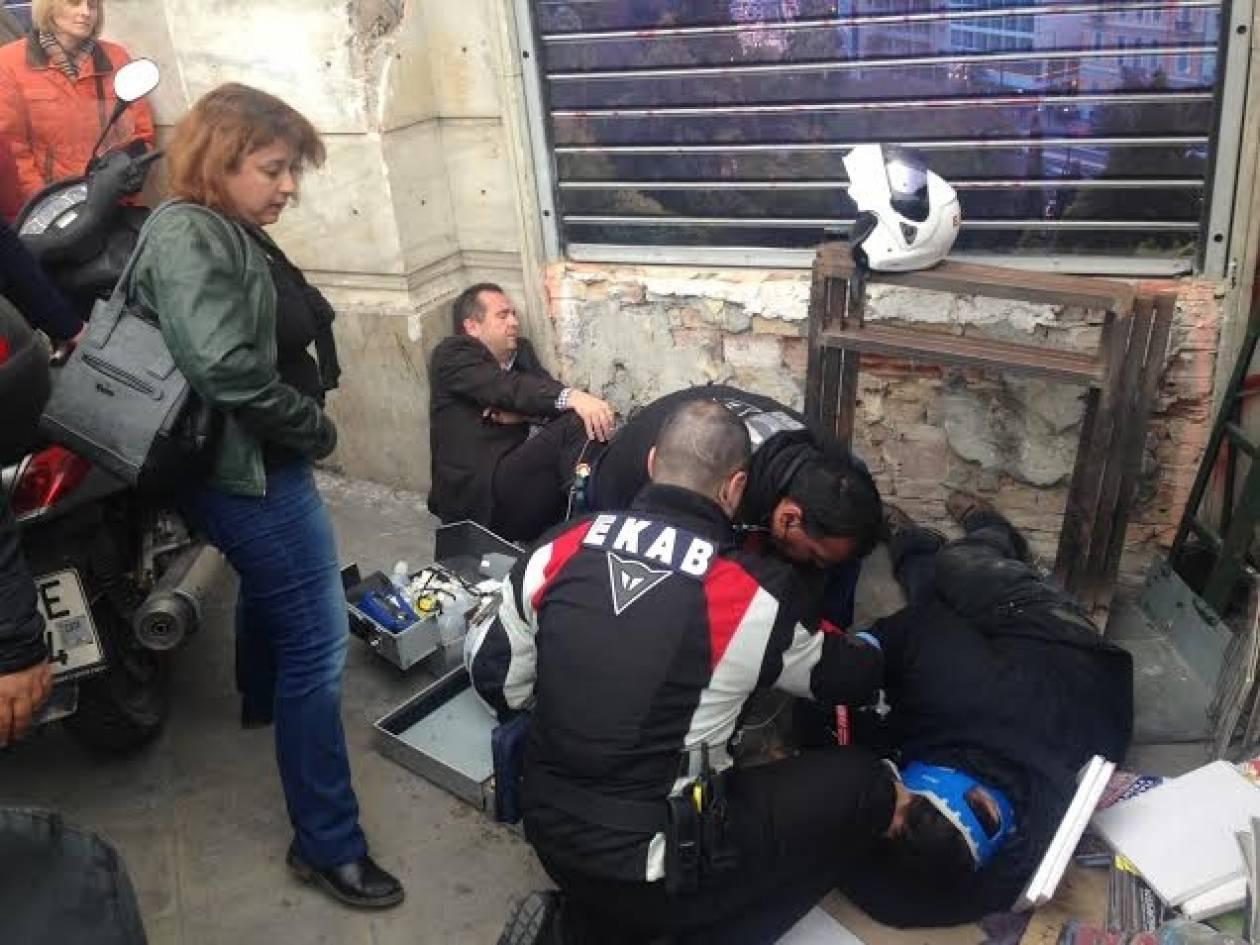 Σύνταγμα: Τραυματίστηκε ο Θέμης Μπαλασόπουλος (pic)