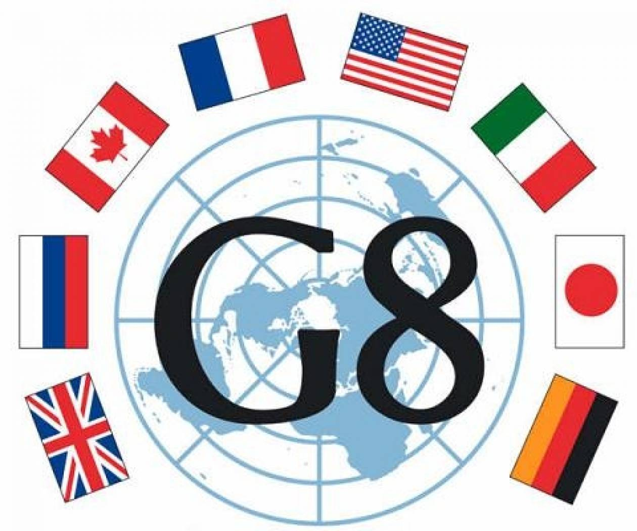 Flags of countries member the g8 stock photo 25222153