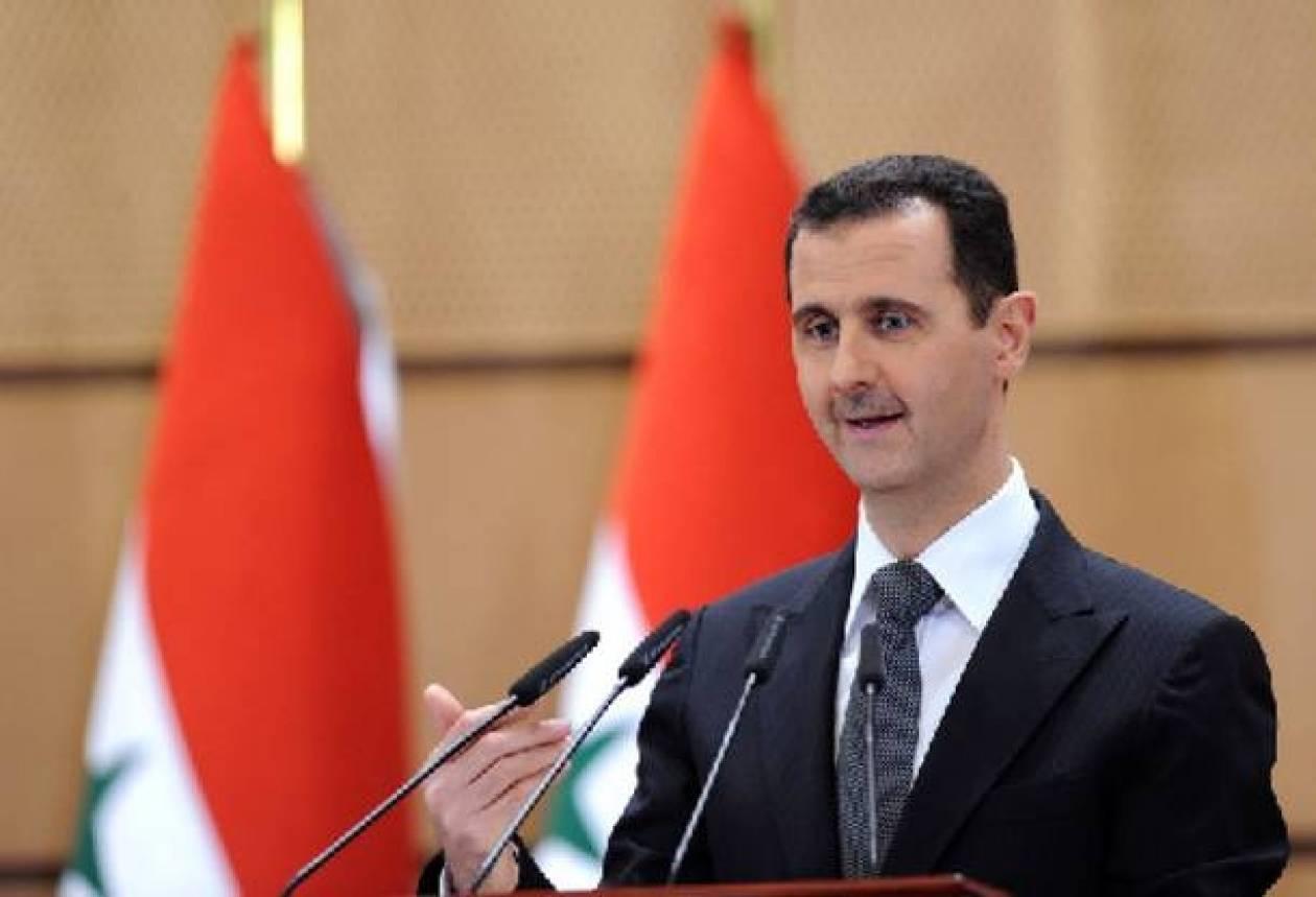 Άσαντ: Θα συνεχίσουμε τη μάχη κατά των τρομοκρατών