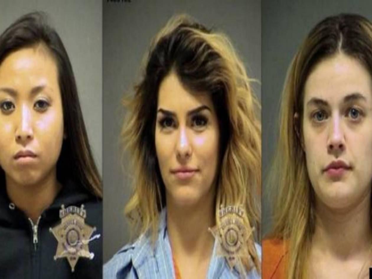 Συνέλαβαν αυτές τις τρεις όμορφες κοπέλες επειδή...