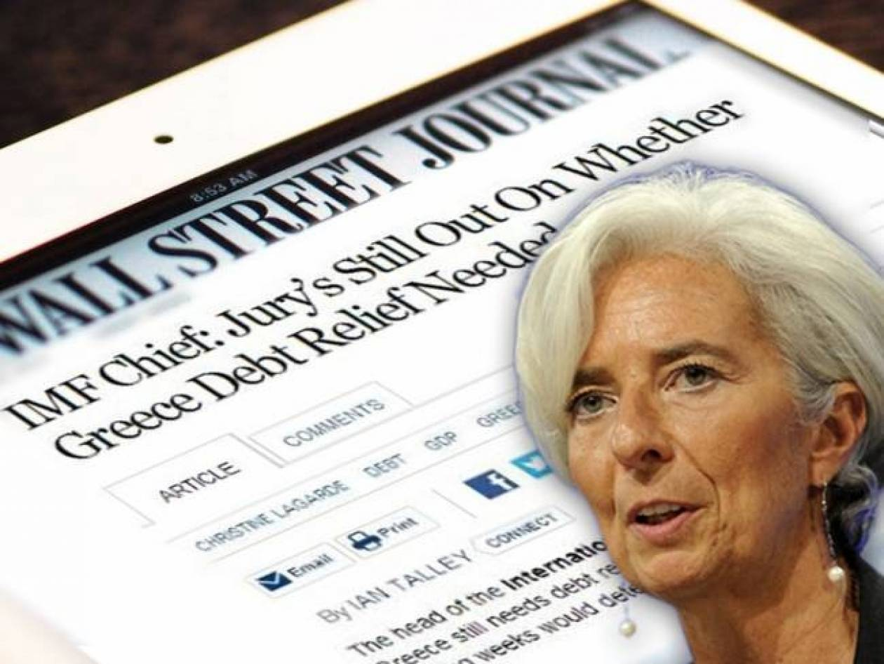 WSJ: Lagarde's doubts on the Greek debt