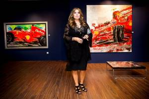 Εγκαινιάστηκε η έκθεση «Velocita F1 2014» της Μ. Παπαθεοδώρου-Βαλυράκη