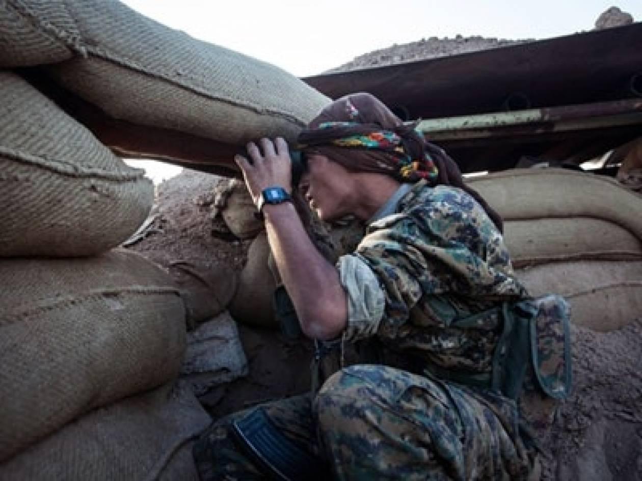 Συγκέντρωση υπέρ των Κούρδων του Κομπάνι στο κέντρο της Αθήνας