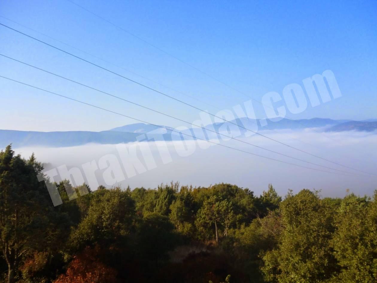 Ξάνθη: «Πνίγηκε» από την ομίχλη η Σταυρούπολη (vid)