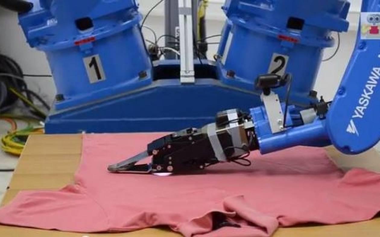 Το ελληνικό ρομπότ που σιδερώνει!