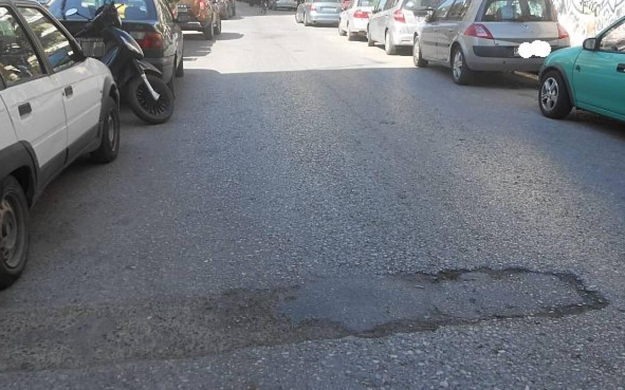 «Παγίδες» για τους οδηγούς δρόμοι στο Ρέθυμνο (pics)