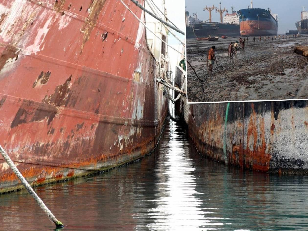Πρωτιά για τους Έλληνες εφοπλιστές στα «νεκροταφεία πλοίων» της ΝΑ Ασίας