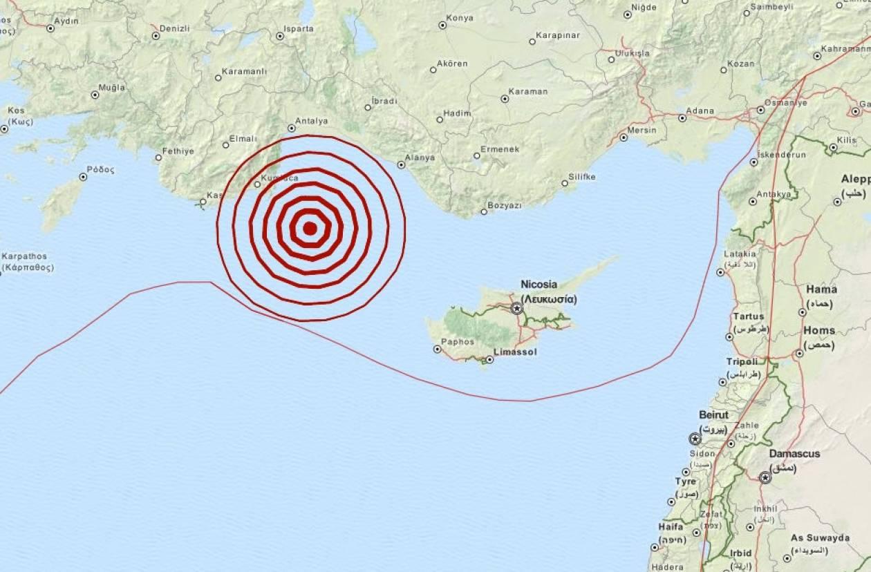 Σεισμός 4,0 Ρίχτερ βορειοδυτικά της Κύπρου
