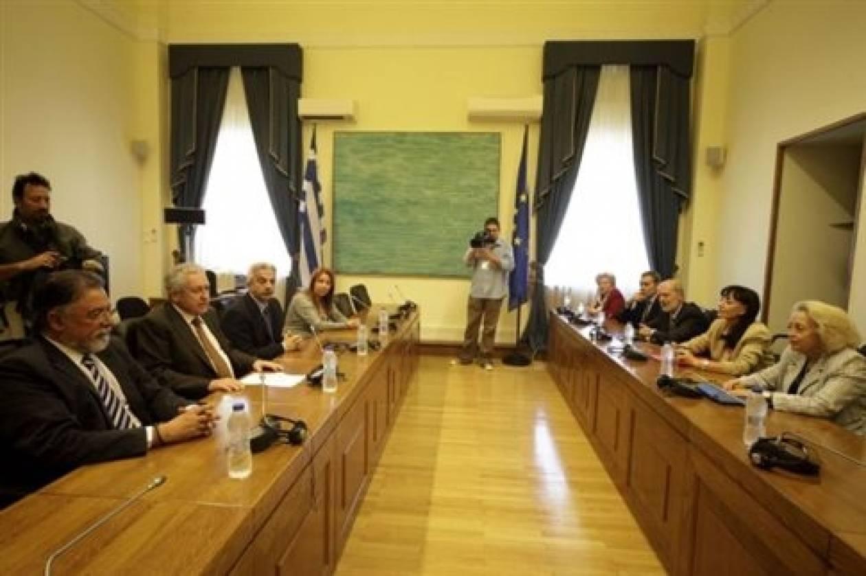 Συνάντηση Κουβέλη με τις διοικήσεις των Ενώσεων Δικαστών και Εισαγγελέων