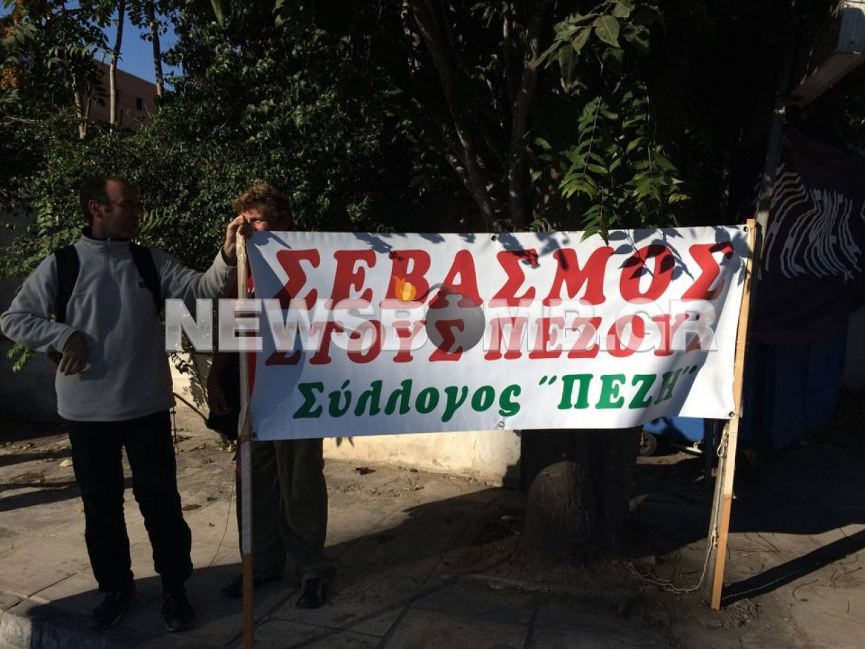 Συγκέντρωση διαμαρτυρίας στην Πέτρου Ράλλη για την οδική ασφάλεια (pics&vid)