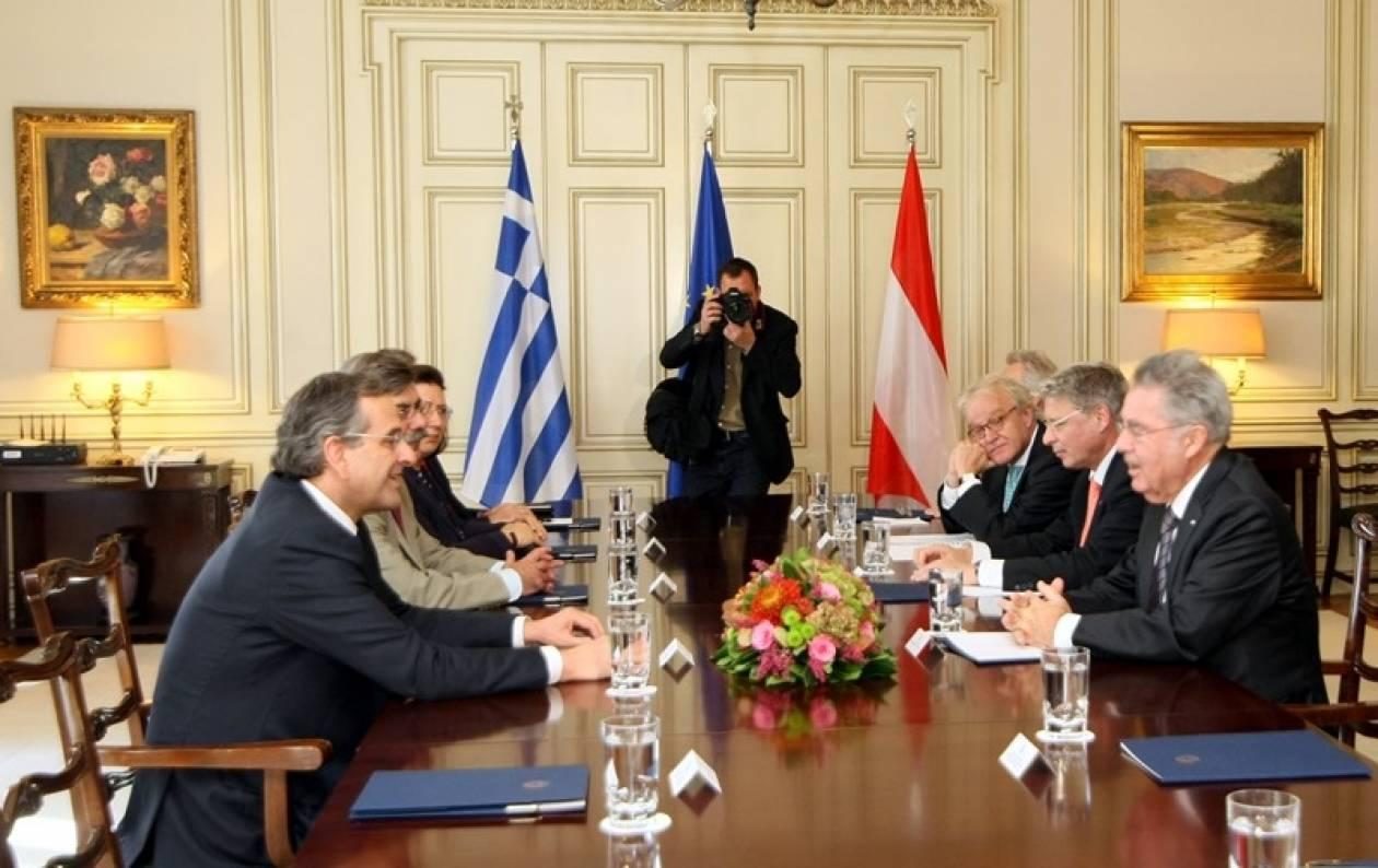 Συνάντηση Σαμαρά με τον πρόεδρο της Αυστρίας Χάινς Φίσερ